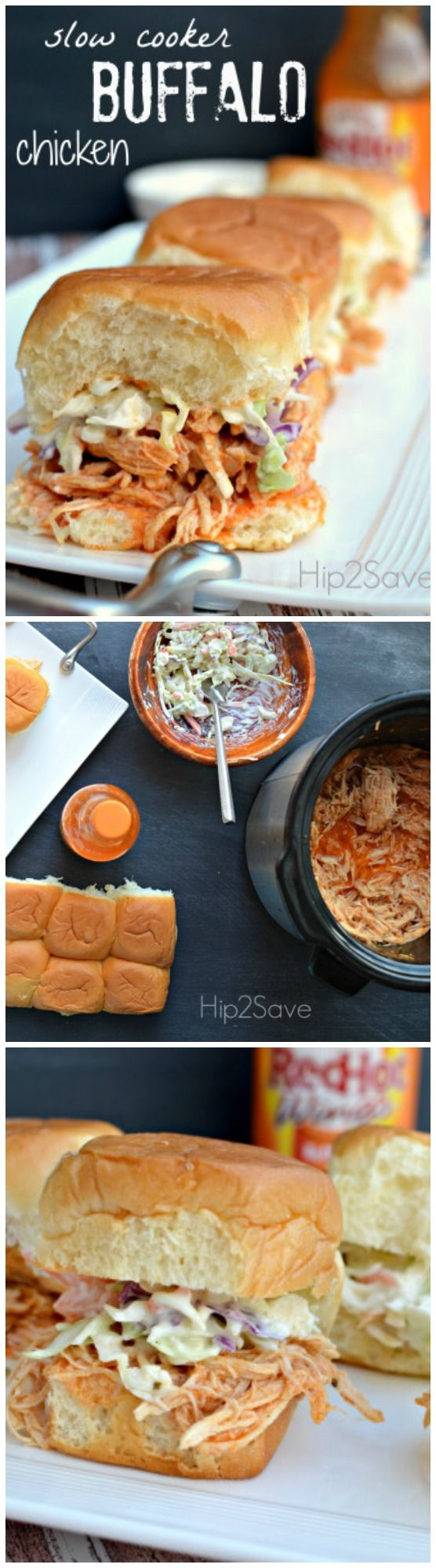 Slow cooker buffalo chicken. These scrumptious little bites are great for an afternoon snack or during the weekends.
