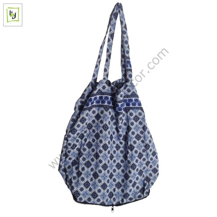 Blue Batik Bag By #balisawahdecor
