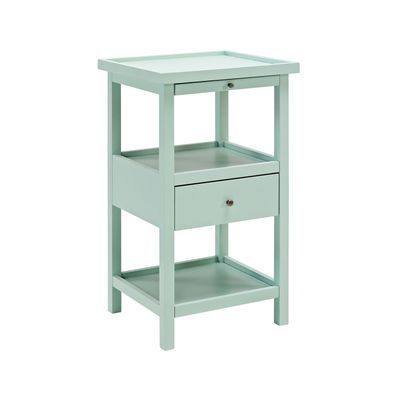 Palmer Aqua Accent Table with Shelf | Home | End tables ...