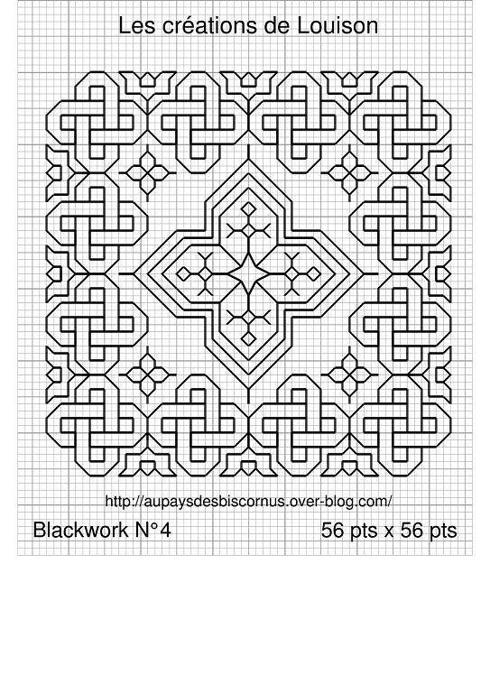 Cross-stitch BLACKWORK Biscornu... ampliar                                                                                                                                                                                 Más