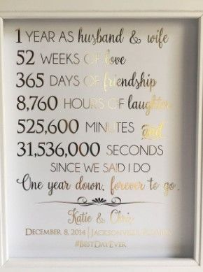 Best First Wedding Anniversary Gift Ideas Gifts