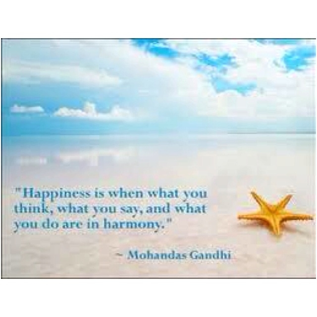 Shared via Allow Happiness on FB: Gandhi, Happiness Is, Life, Inspiration, Quotes, Wisdom, Harmony, Happiness Quote