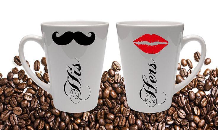 His and Hers Custom Coffee Mug, 11 oz or 16 oz Latte Wedding Gift …