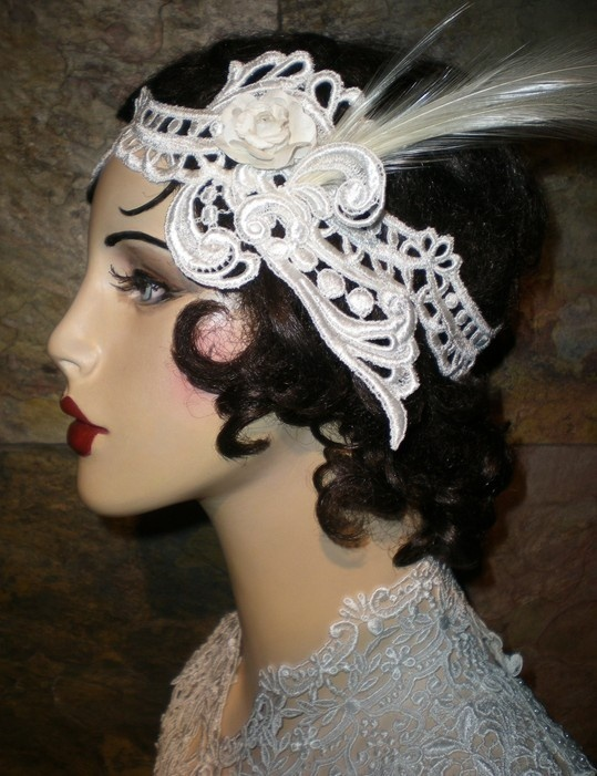 Venice Lace Headband ..love this my teacher had one on looked so cute