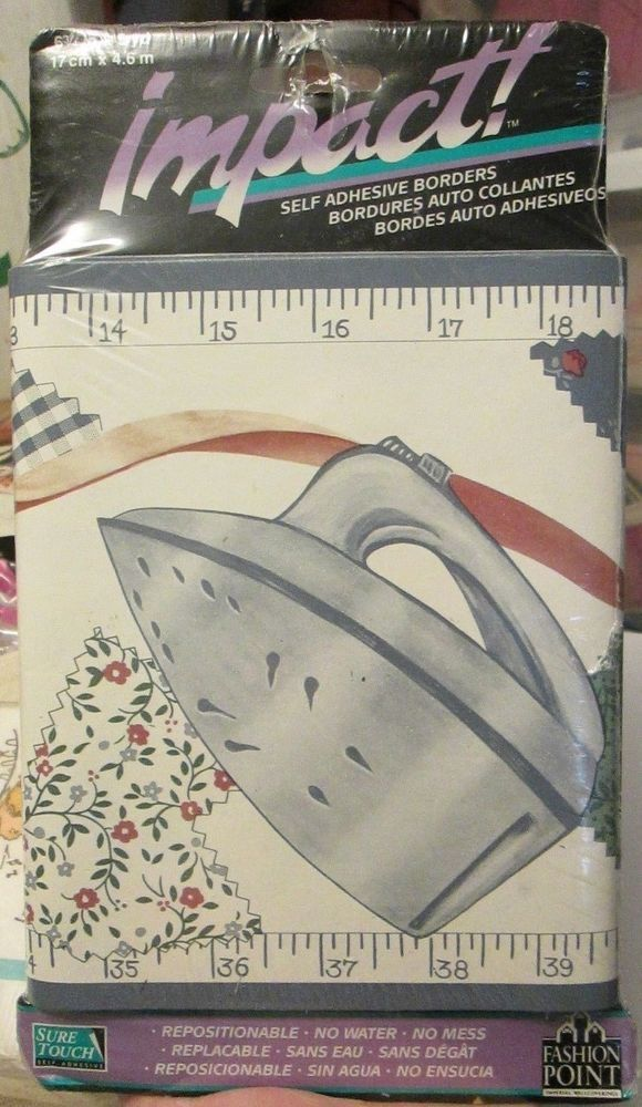 Imperial Impact Sewing Room Wallpaper Border Thread Iron Tape Measure 5 Yards Imperial Wallpaper Border Room Wallpaper Wallpaper