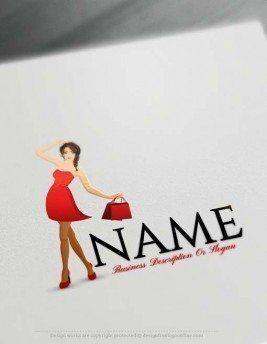Online Create Fashion Shopping Logo Design with the Logo Creator Free