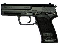 Una Heckler & Koch USP calibre 9 mm Parabellum. Find our speedloader now! http://www.amazon.com/shops/raeind