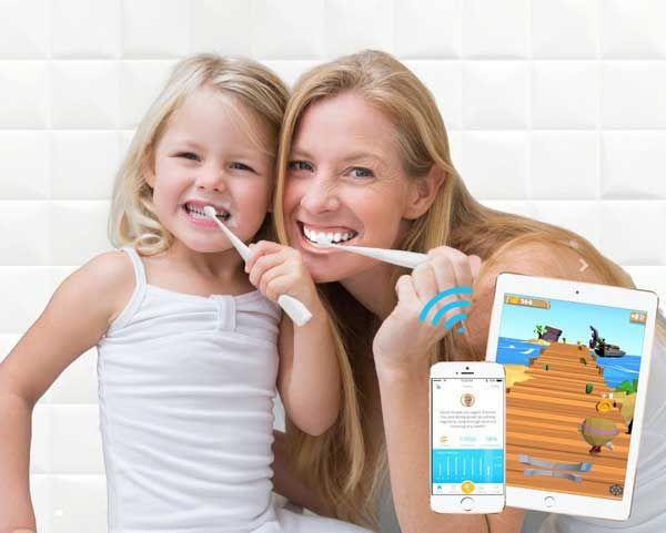 Kolibree est une brosse à dent connectée permettant aux enfants d'avoir envie de se brosser les dents comme il faut à travers des jeux.