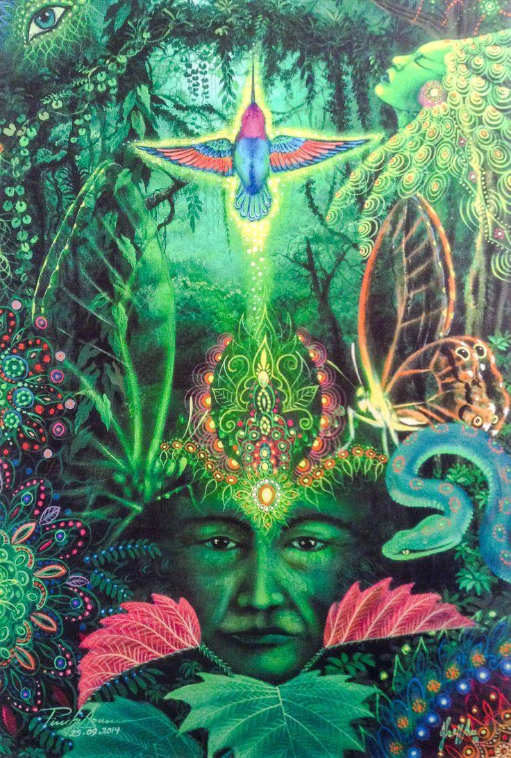 animal ayahuasca vision art - Google Search
