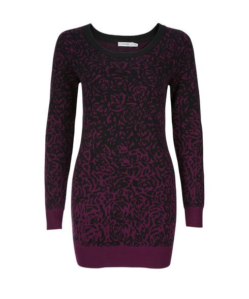 Ombre Rose Pattern Tunic