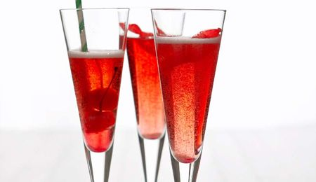 Champagne cocktails: What better way to kick off a party, than bubbles with a twist?