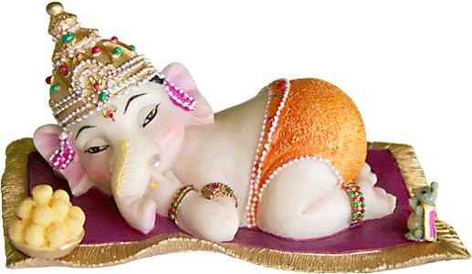 I've given this adorable baby Ganesha to a few of my Indian friends as a baby shower gift. I purchased them from eBay.