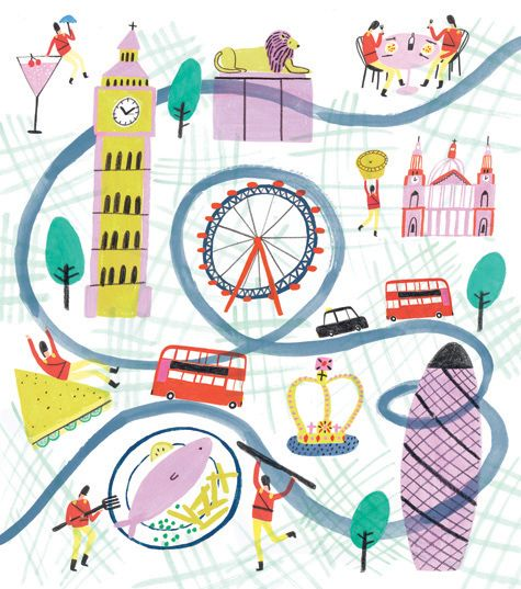 London #illustration by Charlotte Trounce #kid