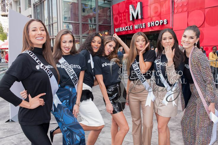 MISS UNIVERSE 2017 :: Welcome Event | Elena Correa, Miss Costa Rica; Manuela Bruntraeger, Miss Singapore; Kára McCullough, Miss USA; #MissUniverse2016, #IrisMittenaere; Demi-Leigh Nel-Peters, Miss South Africa; #DannaHernández, Miss Puerto Rico; and Denisse Franco, Miss Mexico; during the welcome event at Planet Hollywood Resort & Casino on Thursday, November 16th. #MissUniverse2017 #MissUniverso2017 #LasVegas #Nevada #MissUniverse #MissUniverso
