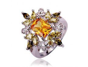 Zásnubný prsteň Emerald Citrine