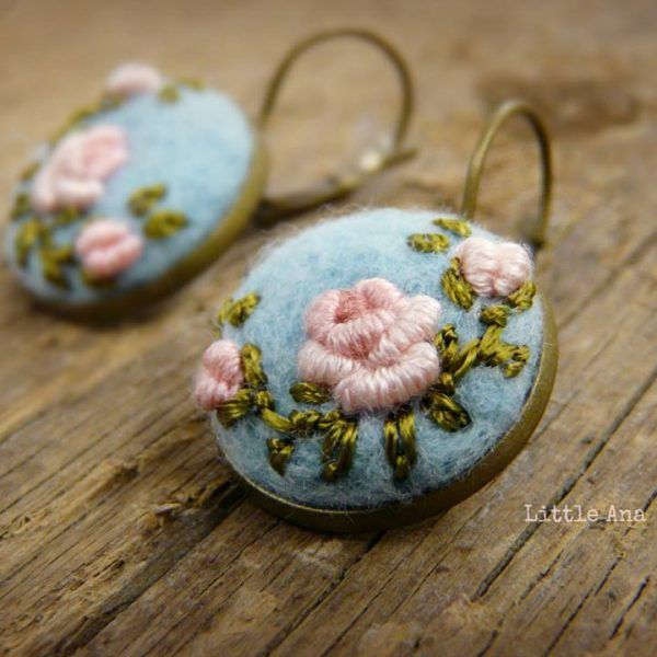 Cercei Rose Garden made with love by Litlle Ana Accessoriies