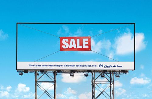 The sky has never been cheaper (Pacific Airlines adv)