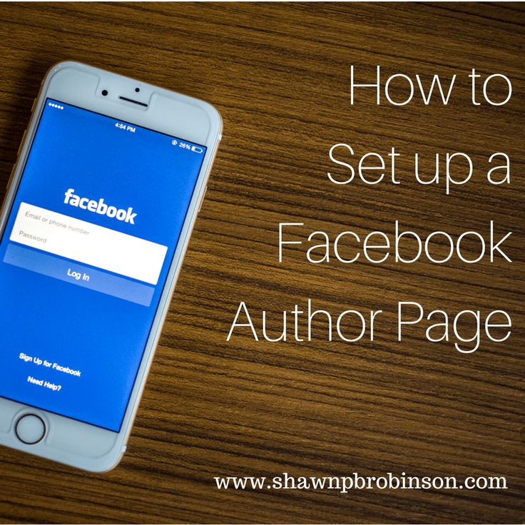 """""""How to Set up a Facebook Author Page"""" is locked How to Set up a Facebook Author Page 