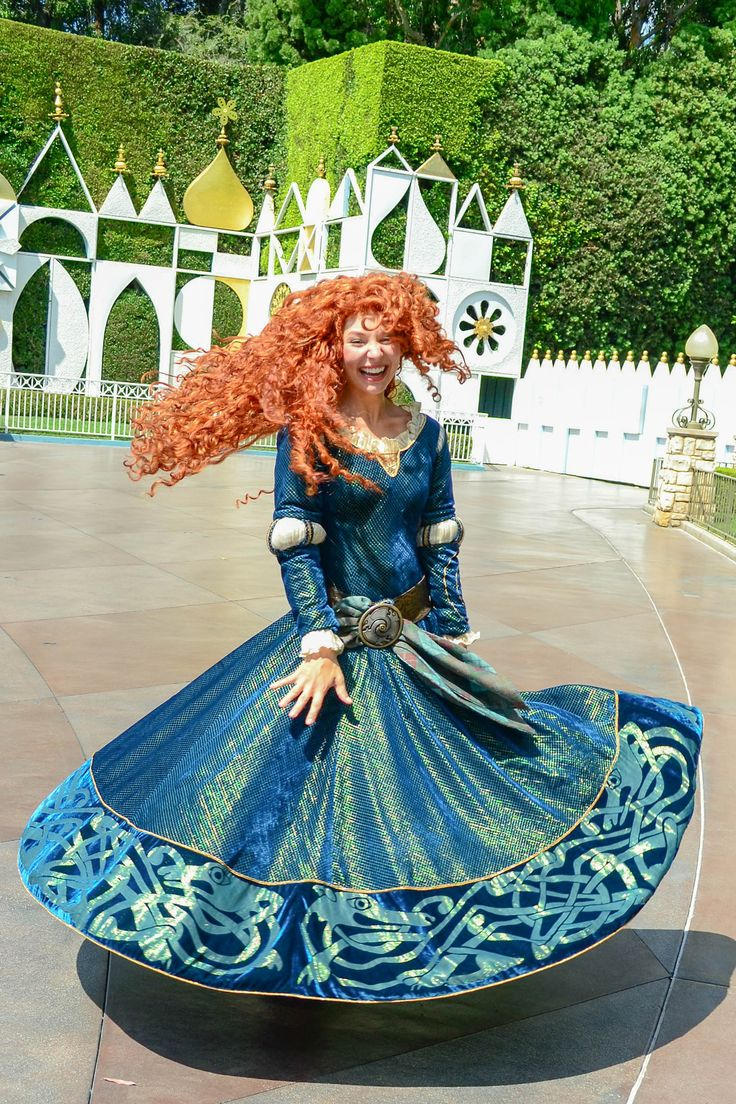 Merida twirling...this my favorite one because of the joyous smile on her face.