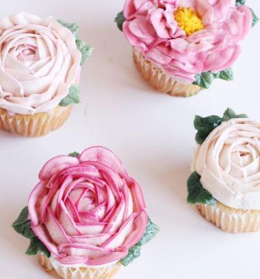 How to make buttercream flower cupcakes - decorating tutorial  // Sütemény díszítési technikák - cupcake vajkrém virágok // Mindy - craft tutorial collection