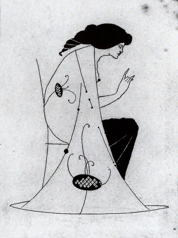 Aubrey Beardsley: Seated Lady #art