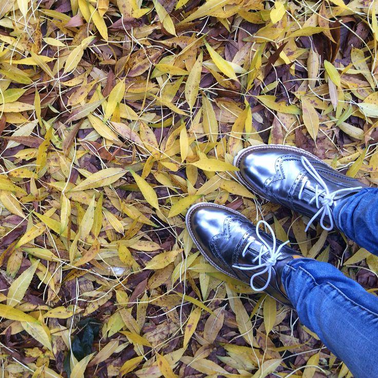 Silver shoes make me happy.