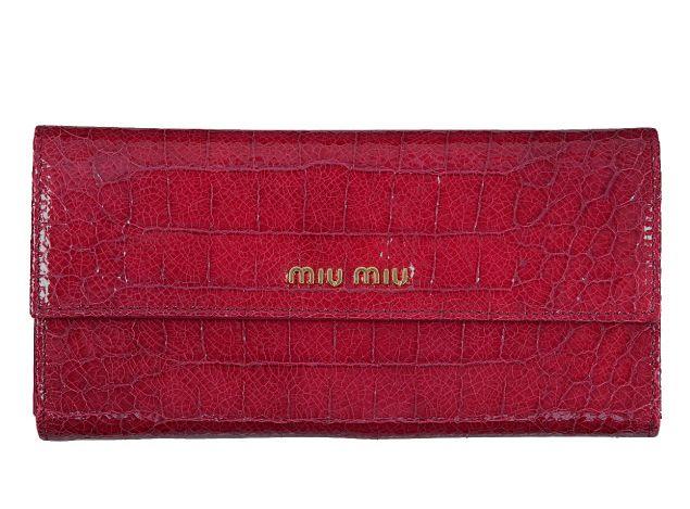 ミュウミュウ2012年春夏新作STCOCCO LUX三つ折長財布 5M1270 NKG F0233 -ミュウミュウ財布コピー