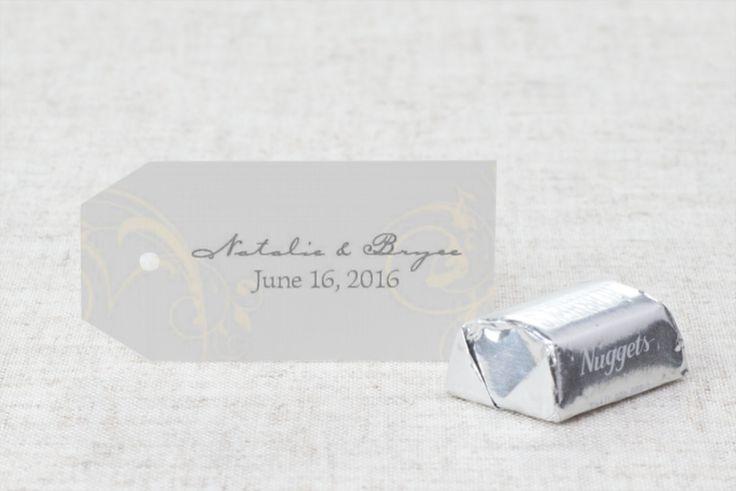 Flirty Flourish - Wedding Favor Tag by MagnetStreet