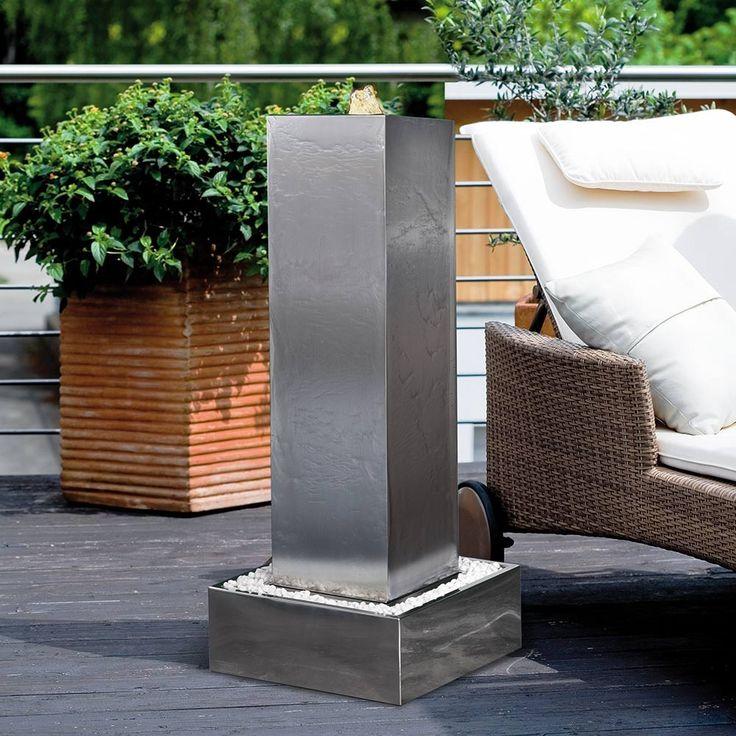 17530320180113 gartenbrunnen aus edelstahl mit beleuchtung. Black Bedroom Furniture Sets. Home Design Ideas