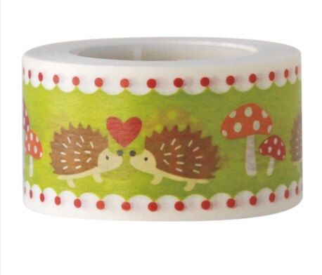 30% OFF Hedgehog Washi Tape--Deco tape-- 25mm x15M by alicemolds on Etsy https://www.etsy.com/listing/190185831/30-off-hedgehog-washi-tape-deco-tape