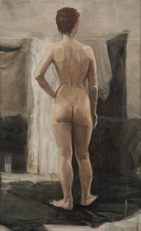 Nude  46x29.5 inches by ValeriaLakrisenkoArt on Etsy