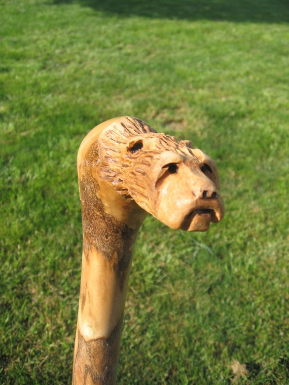 Bear Face Cane Carving Carvings Pinterest Carving