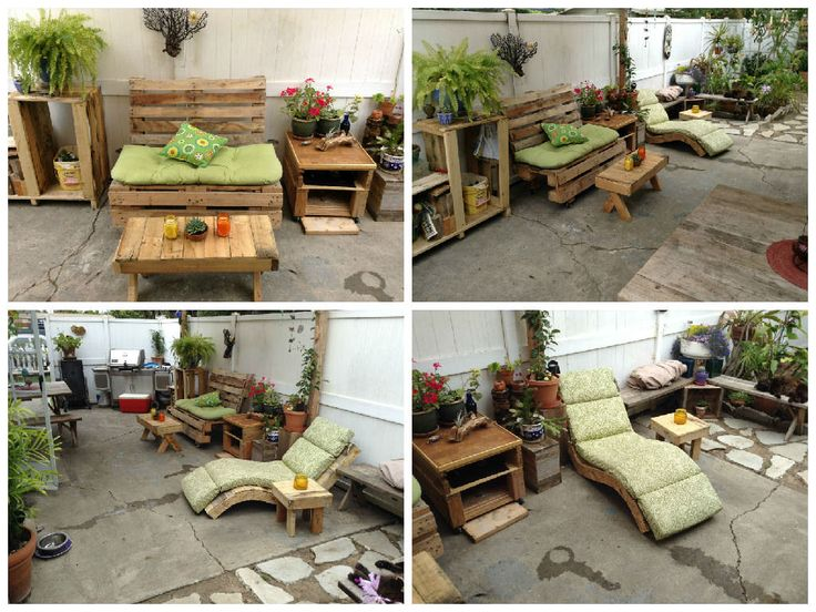 Cute My Pallet Patio Furniture  #garden #palletbench #recyclingwoodpallets I just wanted to make something simple for my little backyard from repurposed wooden pallets.    ...