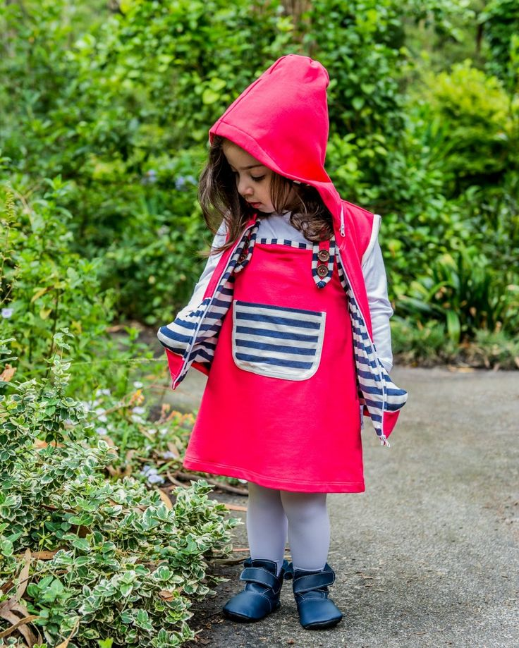 Baby Girl Coverall Dress and Vest Li'l Zippers AW15