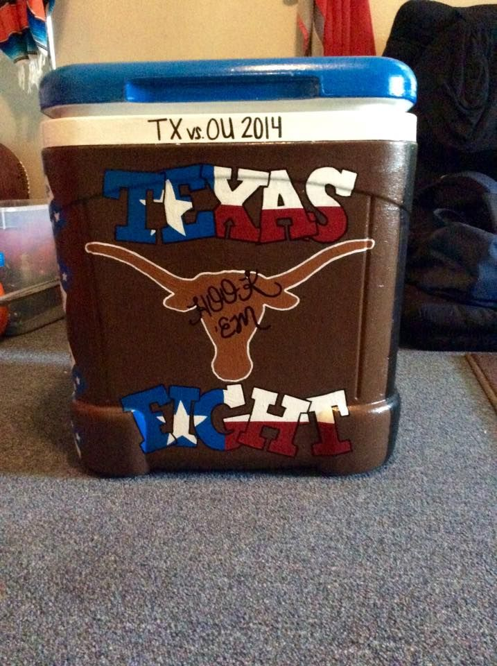 texas fight cooler tx ou weekend 2014  ~cooler connection on facebook