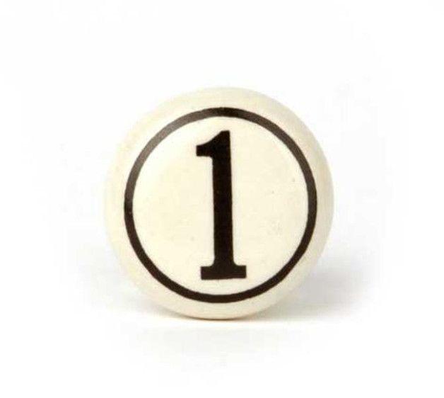 Gałka do mebli Numer - 1 - Jeden