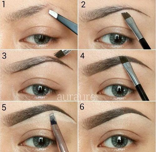 Perfekte øjenbryn
