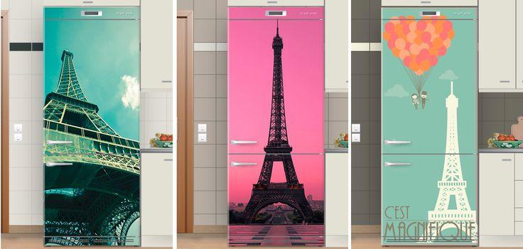❤ Paris ❤ Αυτοκόλλητα ψυγείου εμπνευσμένα από την πόλη του φωτός. Ανακαλύψτε τα στο www.houseart.gr
