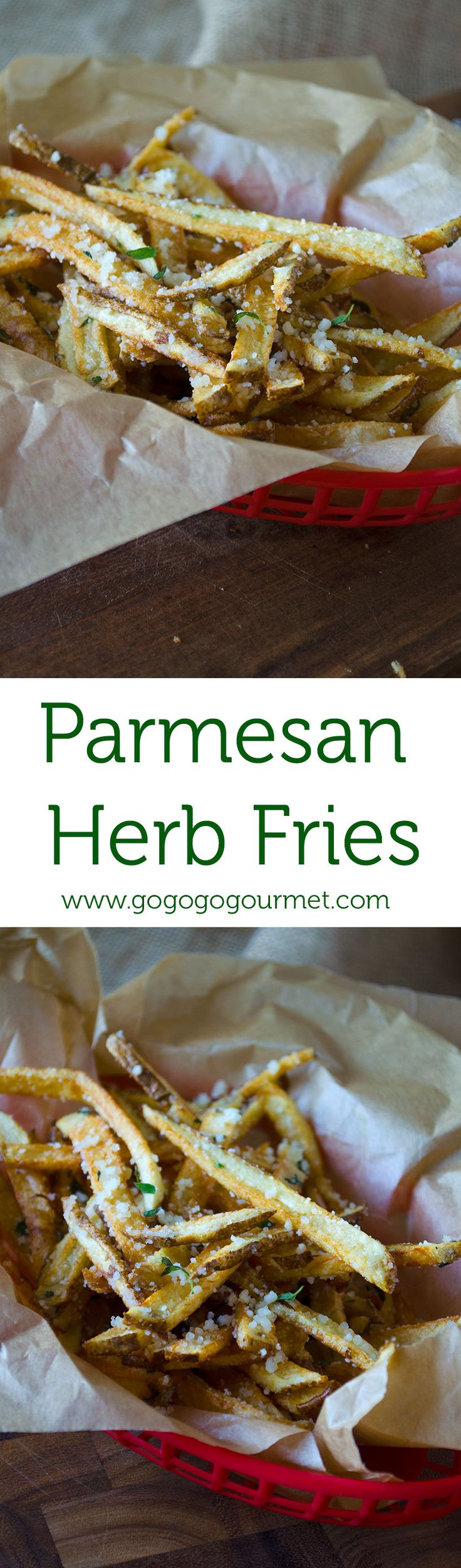 Parmesan Herb French Fries- so good, no condiments needed! | Go Go Go Gourmet @gogogogourmet