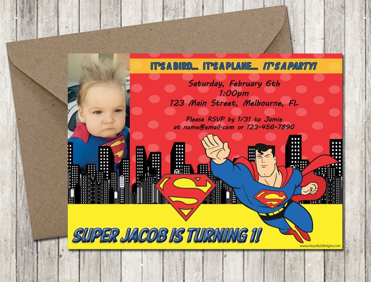 298 best superman 1st bday images on Pinterest Birthday party