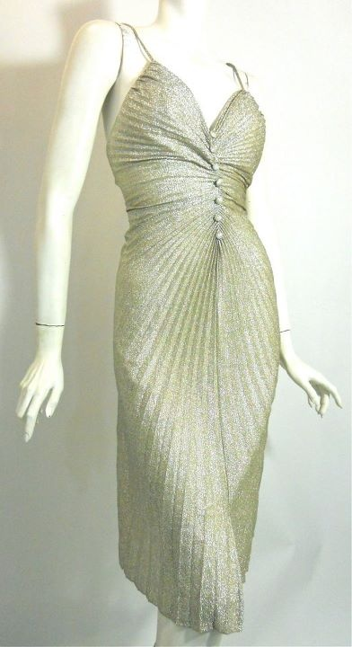 1960s silver glam Frederick's of Hollywood dress, Dorothea's Closet Vintage