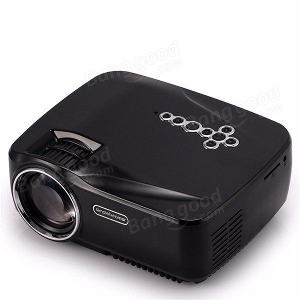 GP70UP Android 4.4 Mini LED Projector with Google Play Updated by GP70 Portable Projector 1G/8G Bluetooth WiFi TV Beamer Sale - Banggood.com