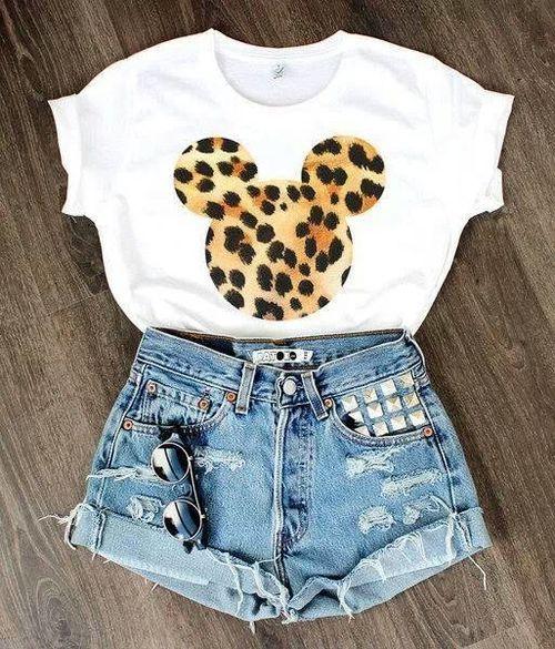 Fashion Walt Disney Micky Mouse Leopard Shorts Tank     http://teespring.com/womensitdirect