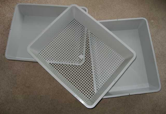 using lift and sift cat litter boxes for wool cleaning
