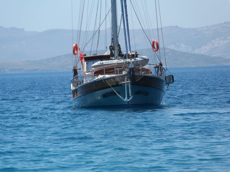 On her way to Bodrum Marina