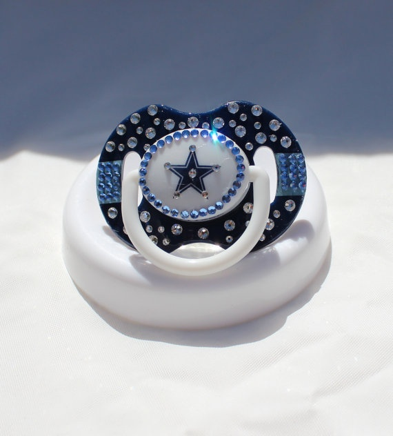 Dallas Cowboys  Baby Bling Pacifier by BlingedOutThings on Etsy