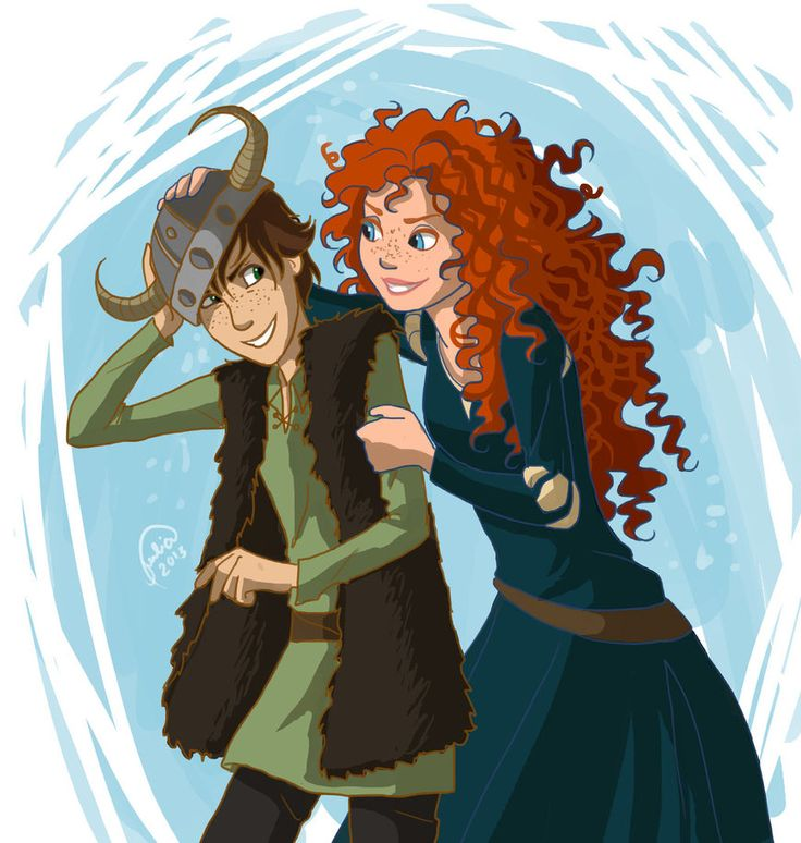merida hiccup jack rapunzel | Fan art) Merida, Rapunzel, Jack et Hiccup - The Big Four