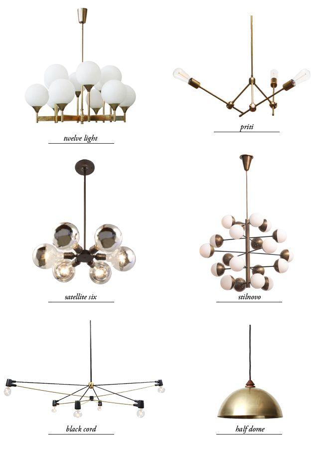 modern chandeliers - round up // smitten studio
