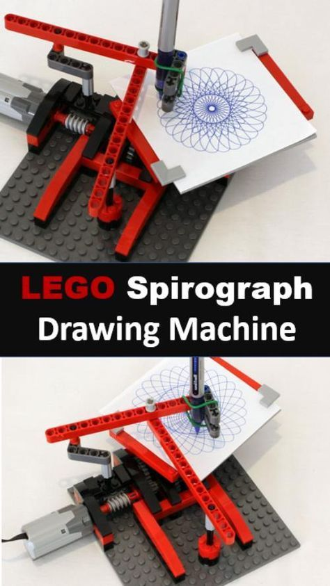 So cool. Build a Spirograph drawing machine with LEGO. Fun hands on engineering …,Leah Young
