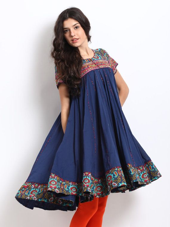 Women Navy Kurta